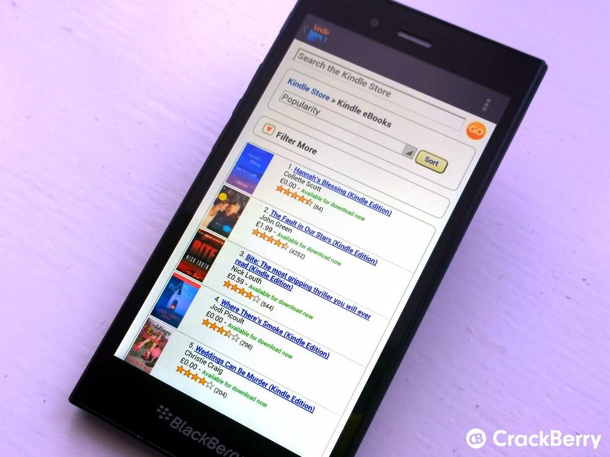 Amazon Kindle on the BlackBerry Z3