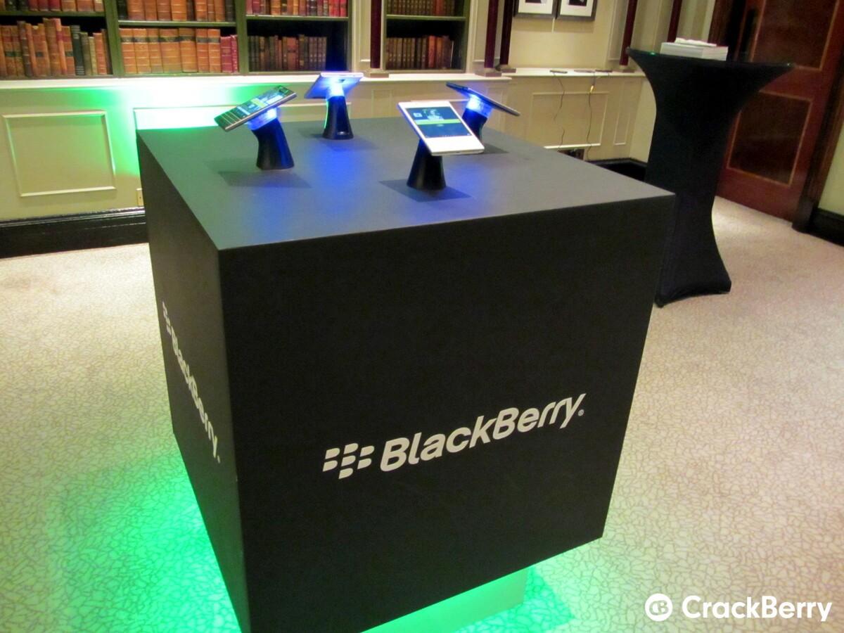 BlackBerry Passport demo stand