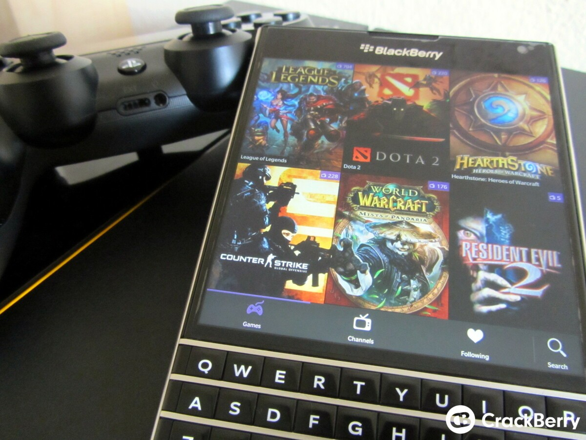 eSporter - a third party Twitch app makes its way to BlackBerry World