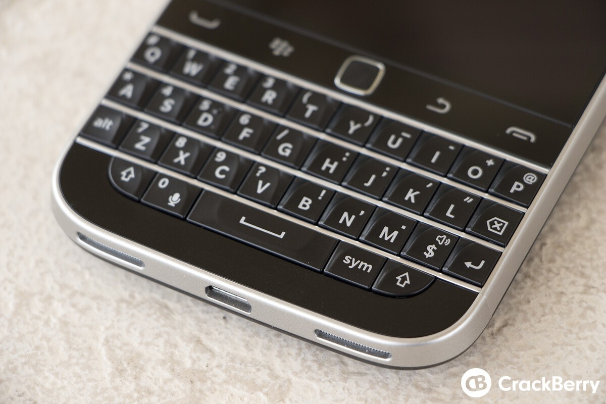 BlackBerry Classic keyboard close-up