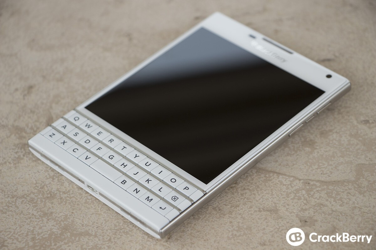 White BlackBerry Passport photo gallery