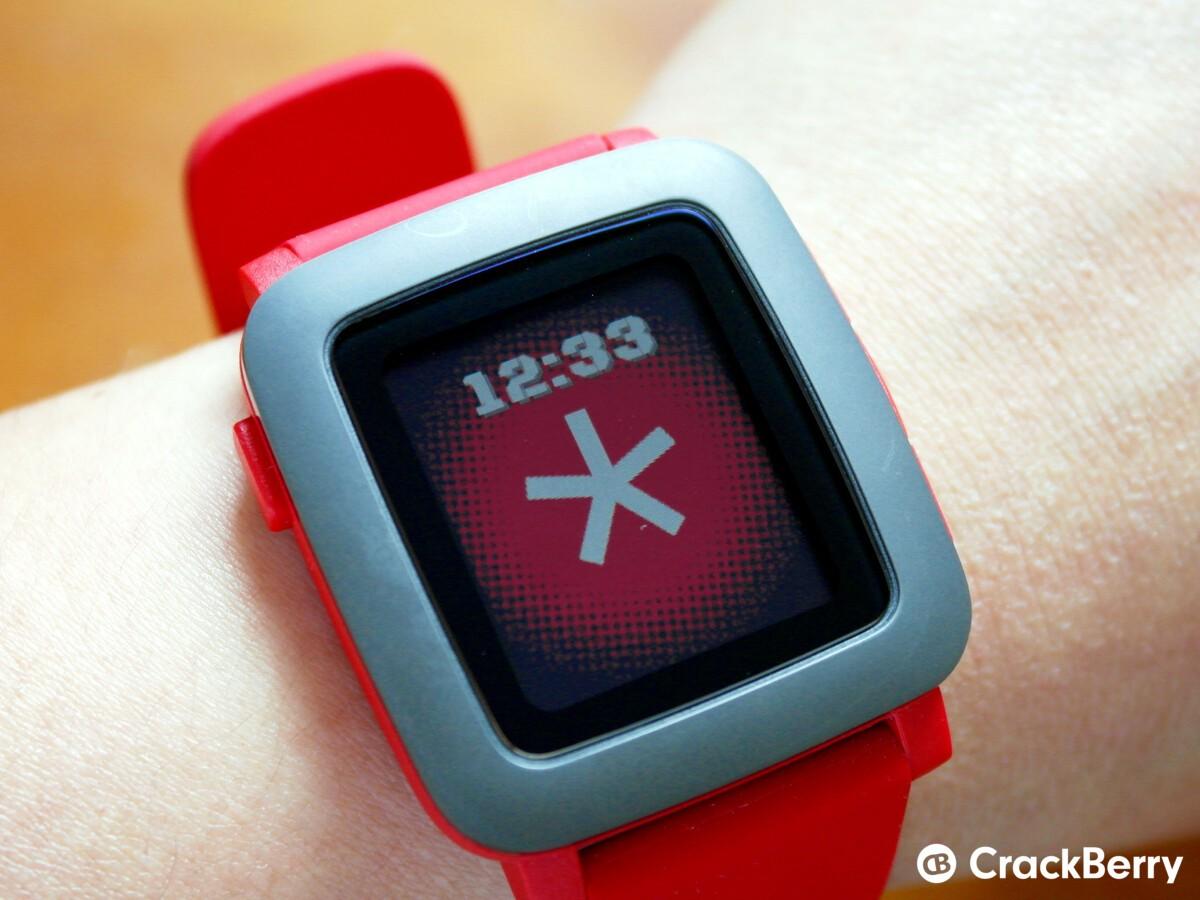 Pebble Time BlackBerry Spark watchface