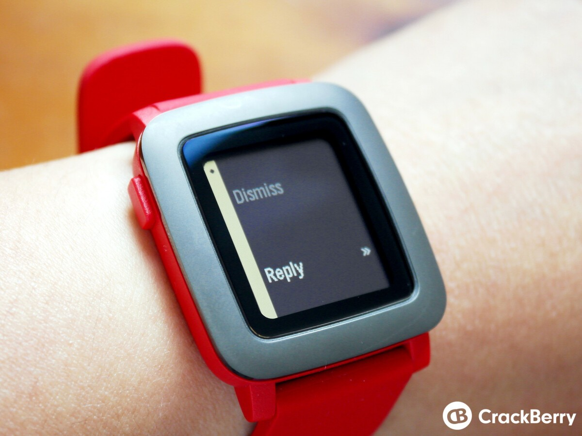 Pebble Time notification actions