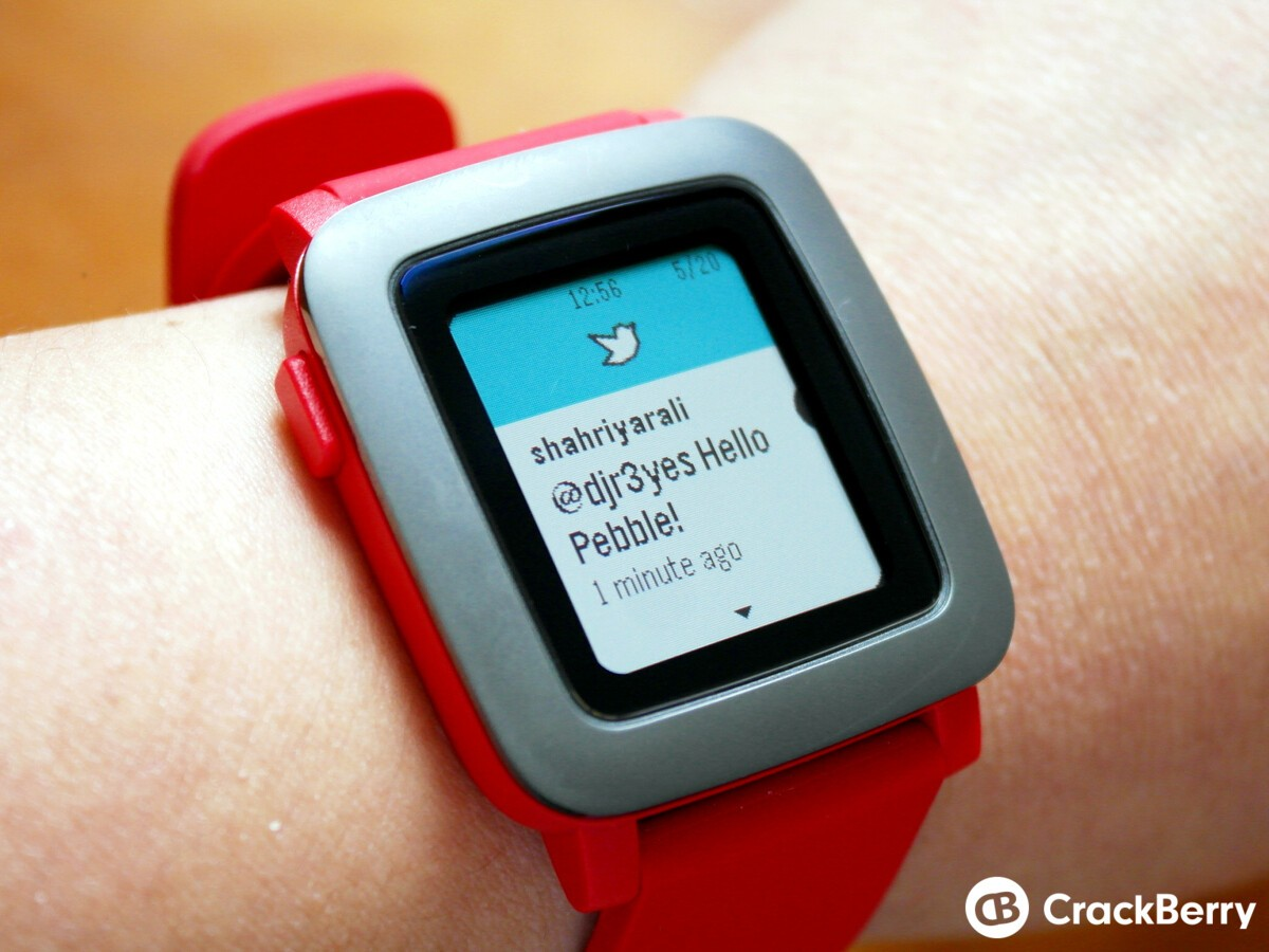 Pebble Time Twitter notifications