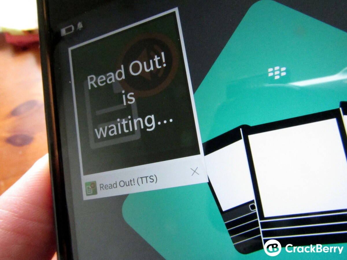 Text to Speech app Read Out is available through BlackBerry World again