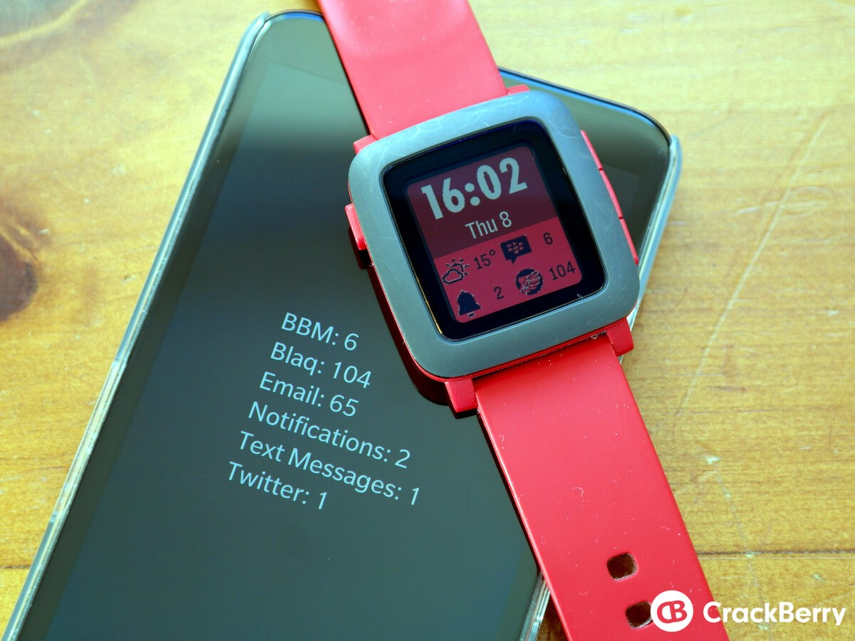 Hub2Watch update includes a new color watchface for Pebble Time users