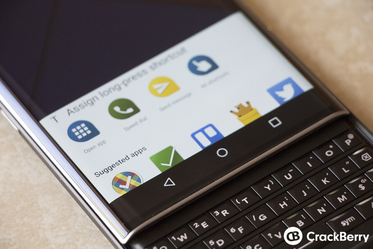How to customize BlackBerry Priv keyboard shortcuts