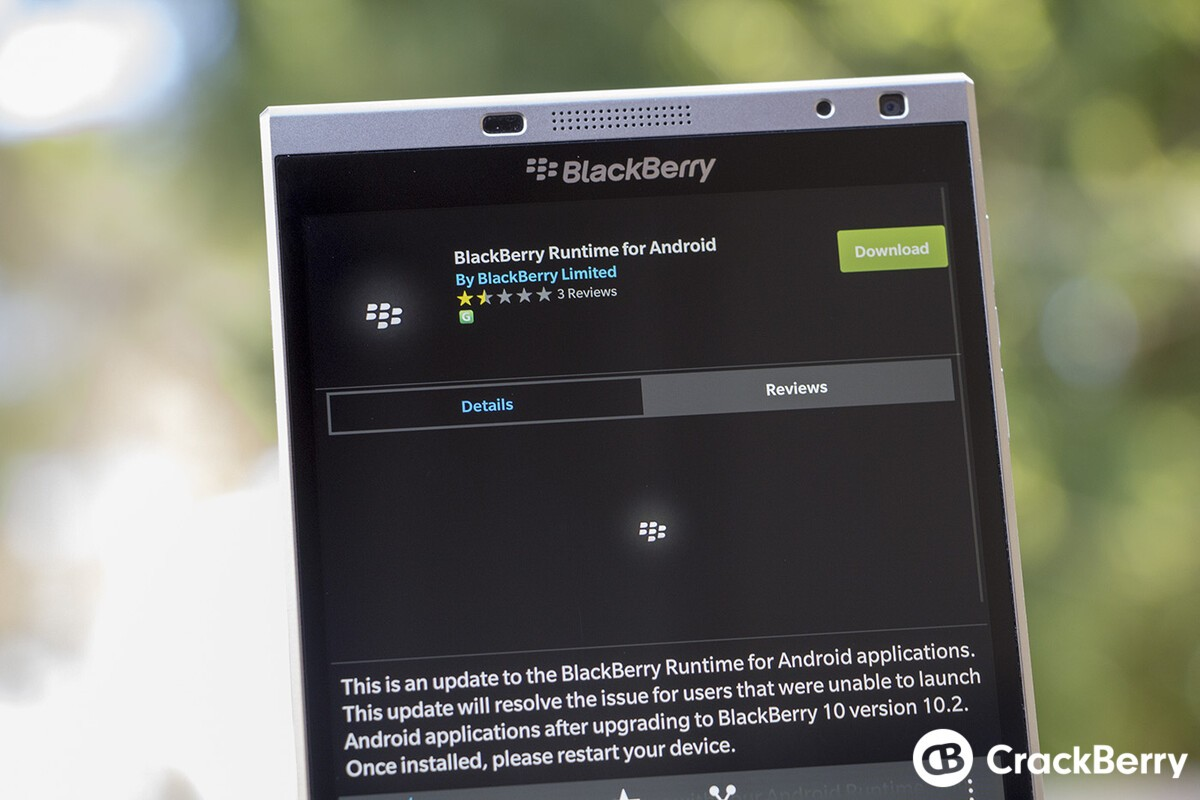 android runtime blackberry download