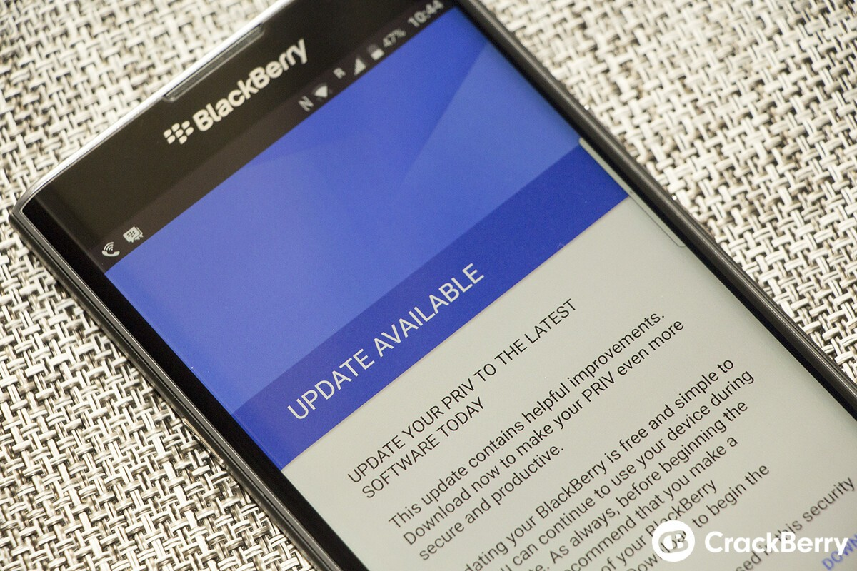 If you purchased an unlocked AT&T Priv your updates will now come directly from BlackBerry