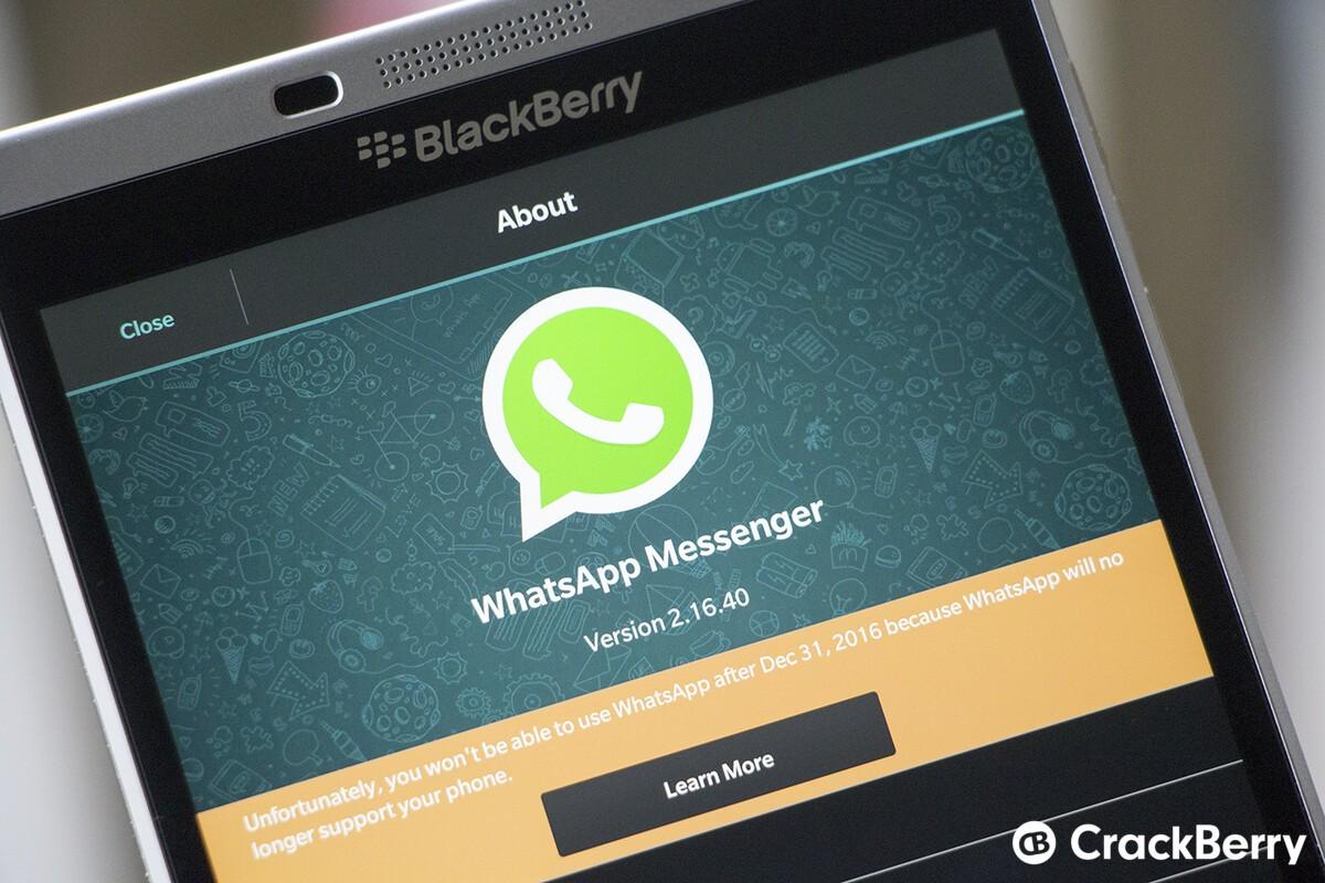 Whatsapp latest version for blackberry