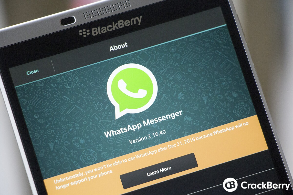 WhatsApp rolls out beta update for BlackBerry 10, reminds users the app will be discontinued in December