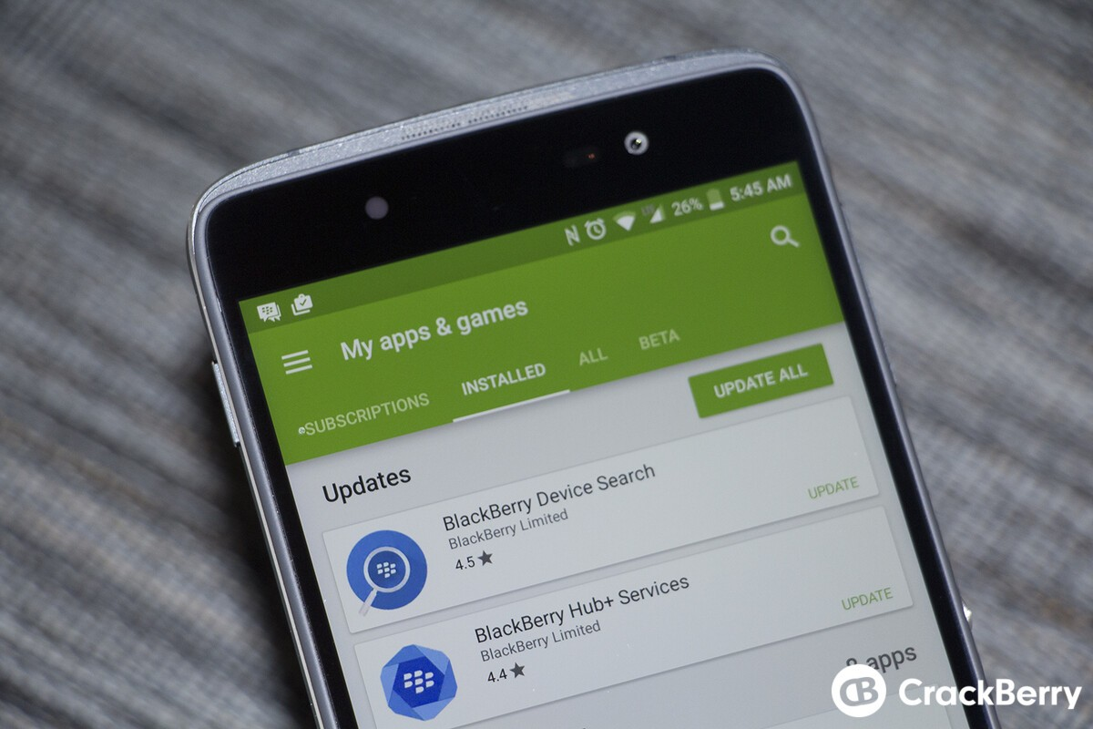 BlackBerry Device Search and Hub+ Services betas updated