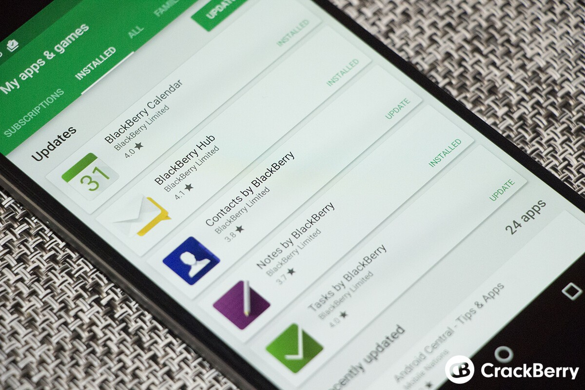 New updates for BlackBerry Hub, Launcher, Notable, DTEK and more now available!