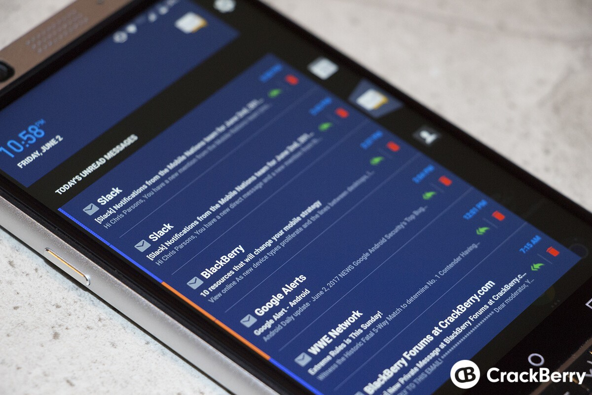 BlackBerry brings even more visual and user experience updates to their Productivity Tab app