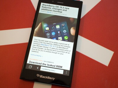 BB10 browser on the BlackBerry Z3