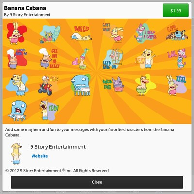 Banana Cabana stickers arrive in the BBM Shop