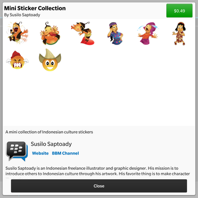 Indonesian culture mini BBM sticker pack now available!