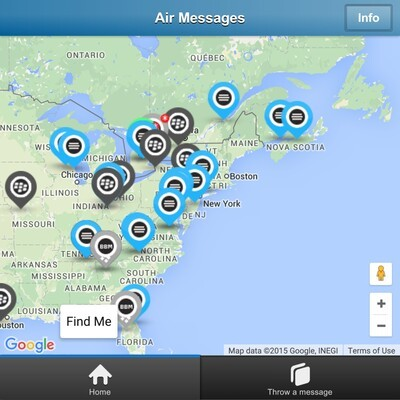 Air Messages Map