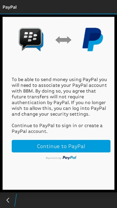 How to make a PayPal payment through BBM | CrackBerry com