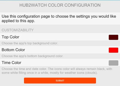 Hub2Watch Color Configuration