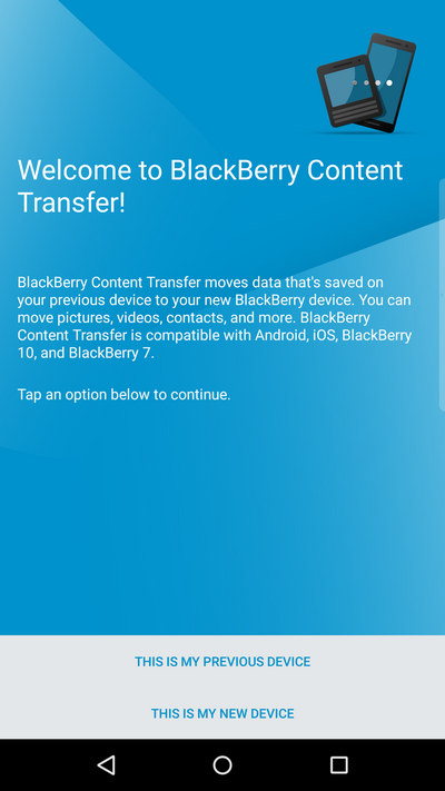 BlackBerry Content Transfer