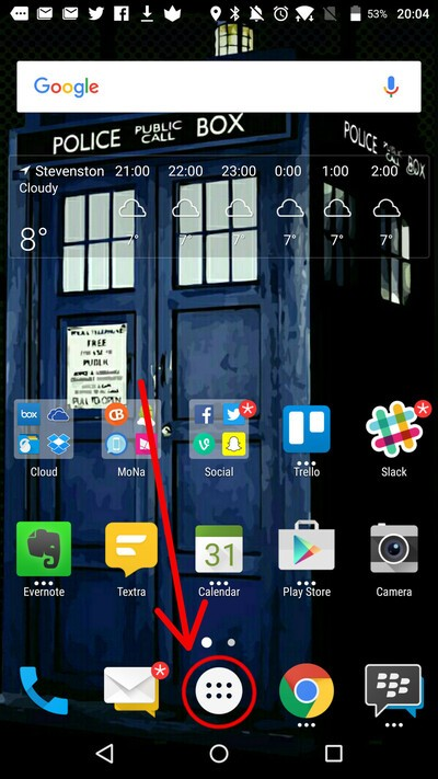 How To Change The Icon Pack On The Blackberry Launcher On