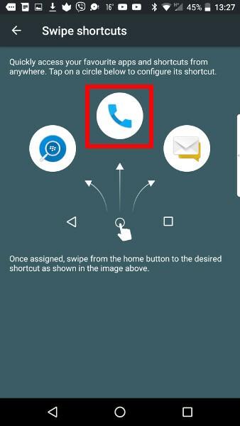 Swipe Shortcut Step 3
