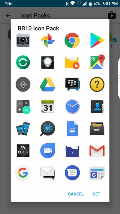 BlackBerry Motion icons