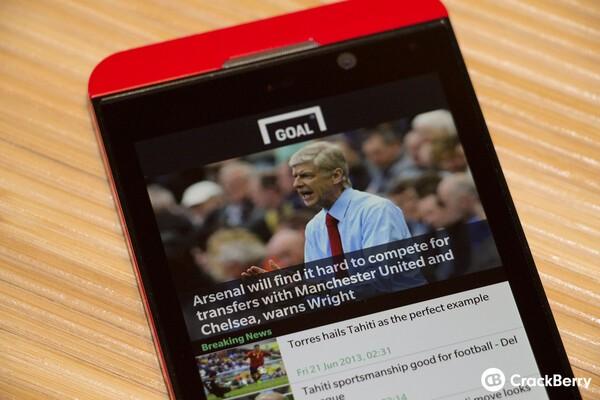 Goal com releases their BlackBerry 10 app for soccer fans