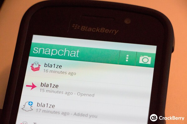How to get Snapchat on your BlackBerry   CrackBerry com