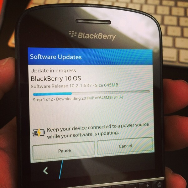 How long did it take you for BlackBerry OS 10 2 1 to