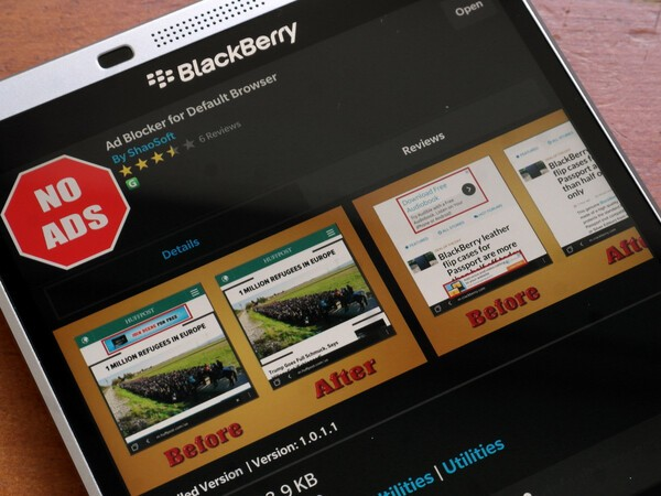 Speed up your BlackBerry 10 browser with Ad Blocker — 250