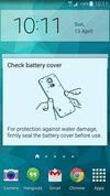 Samsung Galaxy S5 battery cover check