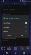 Sony Xperia Z2 noise settings