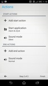 Sony Xperia Z2 actions