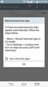LG G3 exercise notes