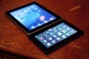 The BlackBerry PlayBook occupies nearly half the footprint of the iPad