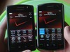 Left: BlackBerry Storm2, Right: BlackBerry Storm.