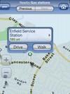 Telmap Navigator - search results displayed