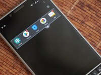 How to access the BlackBerry Privacy Shade gesture on the BlackBerry KEY2