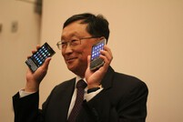 BlackBerry CEO John Chen shows off upcoming BlackBerry Passport and BlackBerry Classic smartphones