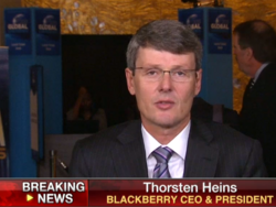 Thorsten Heins sits down with Fox Business and discusses U.S. release of the BlackBerry Q10