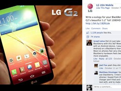 LG's low blow Facebook post against BlackBerry turns out to be a great BlackBerry ad