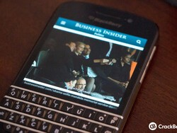 Barack Obama took a selfie on a BlackBerry Z10
