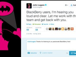 """Says T-Mobile CEO John Legere, """"BlackBerry users, I'm hearing you loud and clear."""""""