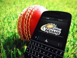 BlackBerry India partner up with premier cricket team Mumbai Indians