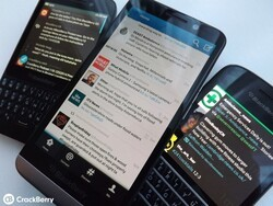 BlackBerry's own Twitter app is the one that most folks are using to tweet