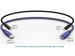 First renders of the reversible USB 3.1 cable released