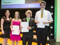 Students from B.C. grab top honors for BlackBerry Smartphone App Development Award at Canada-Wide Science Fair