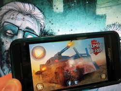 You'll be cleaning zombie guts out of your grill with Zombie Derby for BlackBerry 10